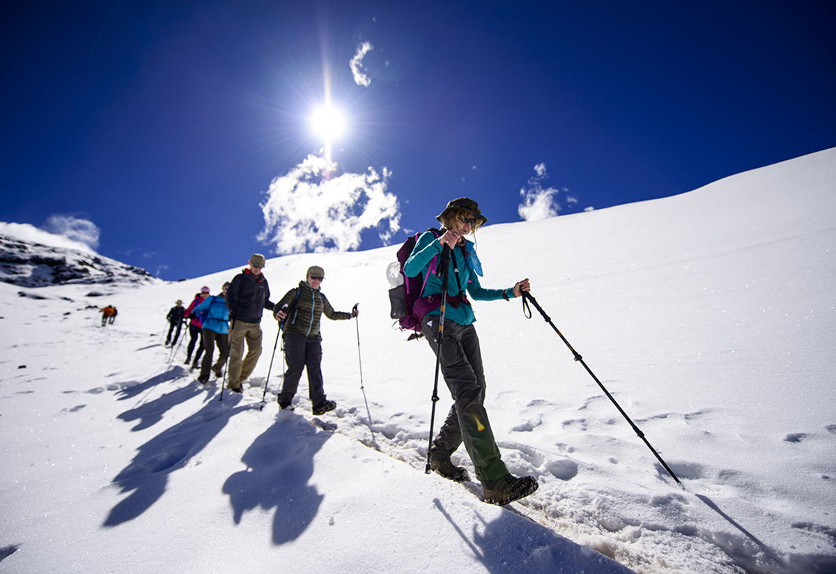 The climb to Ausangate's summit, a superb Andean mountaineering challenge